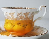 Royal Albert Teacup and Saucer, Regal Series Yellow Tea Cup
