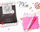 Chalkboard Valentine's Birthday Invitations - Digital File You Print