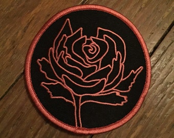 Ryan adams cold roses tribute patch - Red
