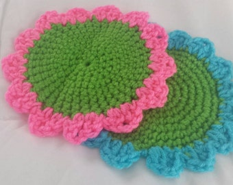 Sunflower Crochet Washcloths (2)