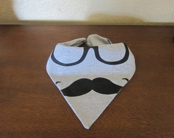 Bandana Bib - Baby Toddler Boy Girl Bandana Bib - MUSTACHE - Birthday Party - Drool Bib