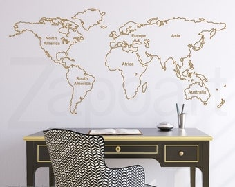 World map wall decal etsy gumiabroncs Image collections