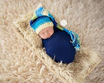 newborn knit tassel hat, baby tassel hat