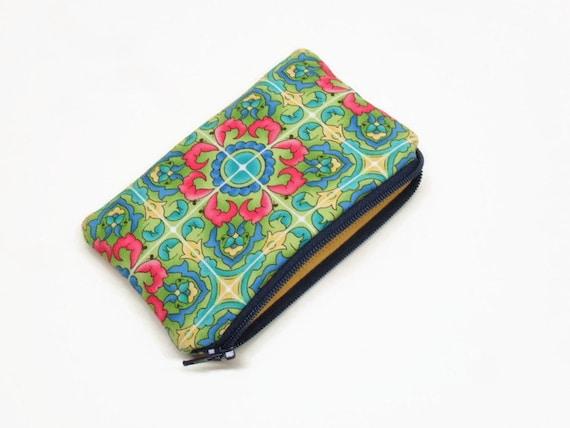 makeup bag zipper pouch small flat bottom makeup bag pink