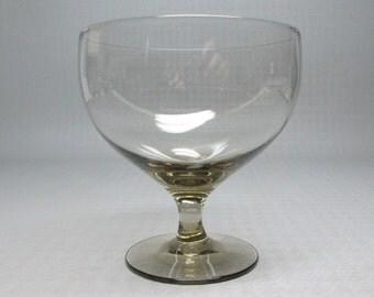 Russel Wright glass American Modern , Morgantown , one goblet , smoke gray