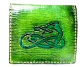 Celtic Irish Gift - Celtic Wallet - Dragon Gift - Dragon Wallet - Wyrm - Boyfriend Gift - Unique Gift - Leather Wallet. 12 Cards,1 Slot