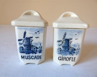 Shabby Miniatures - French Vintage Teeny Canister faience - french kitchen - french ceramic