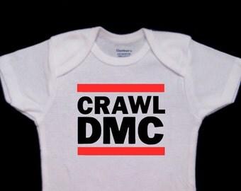 Crawl DMC Funny Baby Onesie Bodysuit