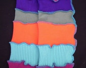 Legwarmers Upcycled Sweater by Cindylicious Bright Colors