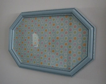 Chic Hexagon Picture Frame - Vintage Syroco in Blue