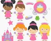 princess clipart clip art digital - Fairytale Princess Digital Clipart