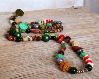 Long Layering Boho Chic - Necklace - Bohemian Chic - Boho Hippie Style - Autumn Jewelry