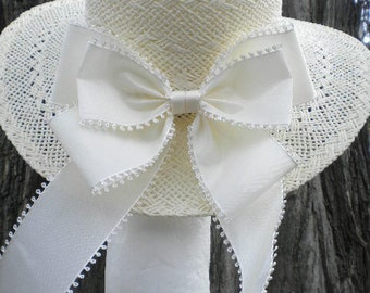 Big Ivory Millinery Bow Picot Off White Ribbon