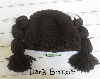 Crochet Cabbage Patch Wig Hat Costume Photo Prop Babies-Adults COUPON CODE sale15