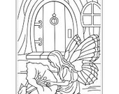 NEW!  FAIRY DOOR Embossing Folder by Darice Size A2