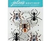Sale -- BEADED SPIDERS Halloween Stickers by Jolee's Boutique