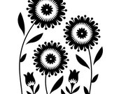 FLORAL TRIO Embossing Folder by Darice Size A2