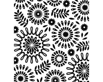 CIRCLES FLORAL Embossing Folder by Darice Size A2