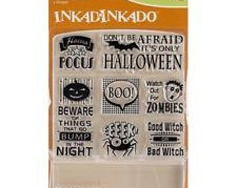 IT'S HALLOWEEN Inchies Stamp Set and Acrylic Block by Inkadinkado