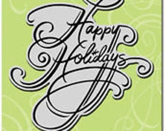 Jumbo HAPPY HOLIDAYS Cling Rubber Stamps by Stampendous