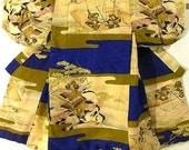 SALE 35%OFF Samurai Japanese Kimono, Rare, Authentic Silk Boys Robe, Military, Jackets, 1920 1930 Asian Clothing Tapestry Wall Hanging