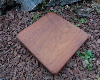 Reclaimed Mahoghany Square Cutting Board or Server