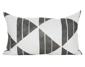 Uroko lumbar pillow cover in Ink