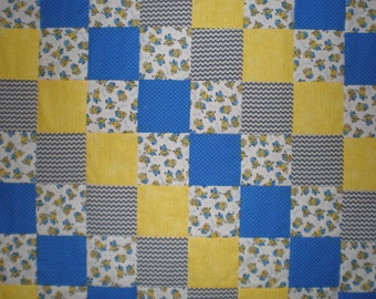 Minions Patchwork Quilt