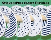 6 Baby Closet Dividers Organizers Assembled or DIY PreCut Navy Anchor Nautical Boy Baby Shower Nursery Gift Clothes Organizer CL024