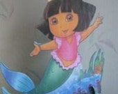 Dora mermaid birthday party centerpiece