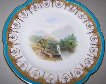 Vintage Minton Gold Edged Collectible Plate