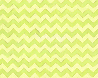 """Green Tone on Tone Chevron Coordinate Fabric, """"Two By Two"""" by Beth Logan for Henry Glass, 100% Cotton, Great for Quilting, Sewing!"""