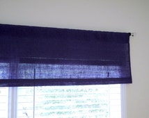 """Purple Burlap Valance Sizes 38"""" up to 100"""" Over 20 Colors To Choose From Custom Size Available Boho Style Decor Girls Room Curtains"""