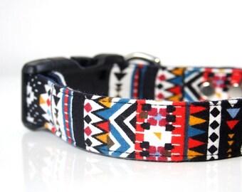 BOHO Bohemian Flannel Dog Collar