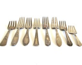 Silver Youth Forks Small Silverplate Toddler Silverware Baby Flatware