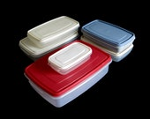 Rubbermaid Containers Servin' Saver Plastic Food Storage Rectangular 1980s (as-is)