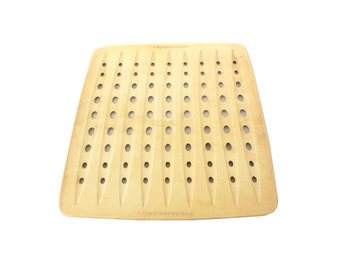 """Rubbermaid Sink Mat Dish Drainer Liner - Vintage 1960s Kitchen (as-is, see """"Item Details"""")"""