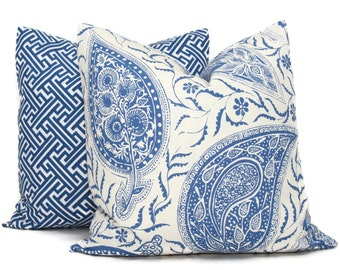 Paisley Decorative Pillow Cover by Bailey and Griffin Hayden Marine Blue Pillow, Throw Pillow, Accent Pillow, Toss Pillow