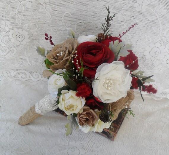 Christmas Wedding Bouquet Ideas: Bridal Bouquet Rustic Wedding Bouquet Christmas Bouquet