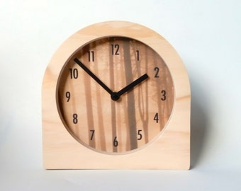 Objectify Wood for Trees Desk Clock with Numerals
