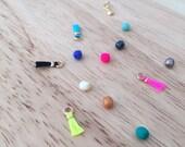 Add color to your custom jewelry - Glass bead or Pom Pom