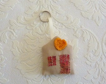 Keychain fabric house keychain get ready for school