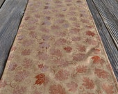 Fall Table Runner - Autumn Table Topper - Maple Oak Leaves - Metallic Copper - Linen Look - Holiday Home Decor