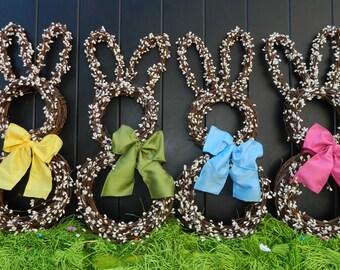 Mini Bunny Wreath - Bunny Wreath - Small Wreath - Easter Wreath