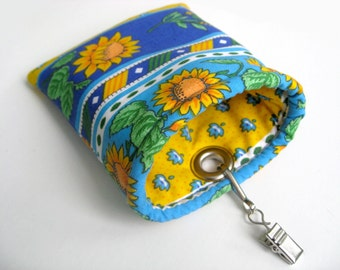 CLEARANCE - Car sunglasses/ipod/iphone case - Sunflowers - Ready to ship