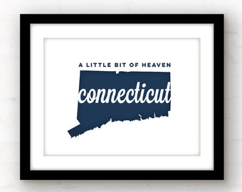 Connecticut Art | Connecticut Print | Connecticut song lyrics | Connecticut decor