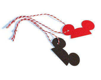 Mickey Mouse ear tags - set of 20