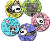 CUTE RACCOONS Personalized stickers for Teachers