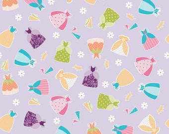 04473 - Riley Blake Dream a Wish C4814  Dresses in purple   fabric- 1 yard
