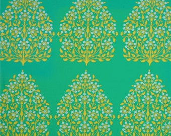 99030 -  Amy Butler Lark - Henna Trees in Grass  color-Laminated cotton -  1/2 yard